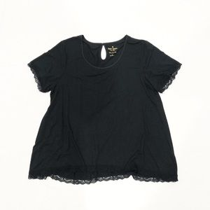 Kate Spade Black Lace Trim Top